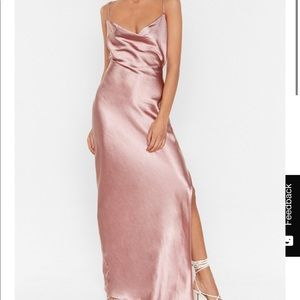 Nasty Gal Satin Dress